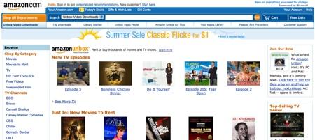 Amazon.com prodává filmy