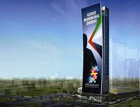 obří LED displej pro Dubaj