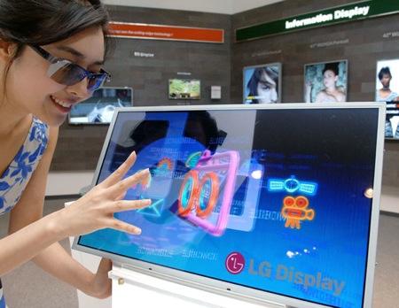 LG LCD displej s 3D technologií