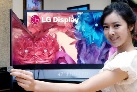 LG - LCD televize - nejtenčí s úhlopříčkou 42 a 47 palců