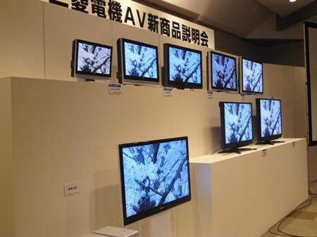 ultratenká LCD televize Mitsubishi