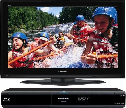 Panasonic Blu-ray přehrávač a plazmová televize