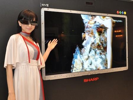 HDTVBlog.cz obrázky Sharp 3D LCD displeje Quattron RGBY