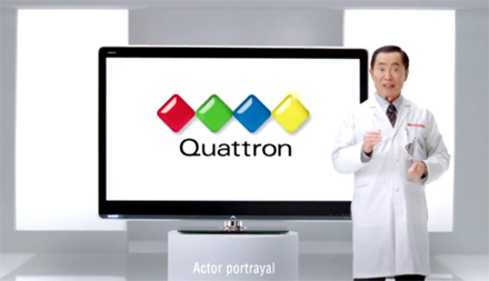 Sharp - Quattron - LCD televize - George Takei