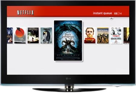 LCD televize LG vybavená online videopůjčovnou Netflix