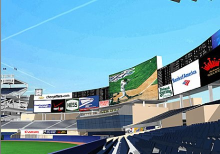 HD televize pro stadion Yankees